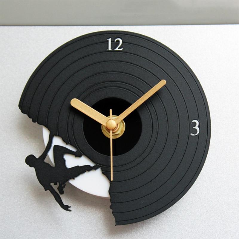 MINI CD Wall Clock Creative Fridge Magnet Clock Fresh Color Magnetic Stickers Clocks Refrigerator Decor Wall Clocks