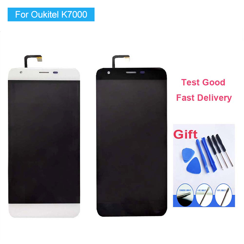 100% New Tested Lcd For <font><b>Oukitel</b></font> <font><b>K7000</b></font> Lcd Display And Touch Screen High Quality Assembly Full Set Lcd+Tools image