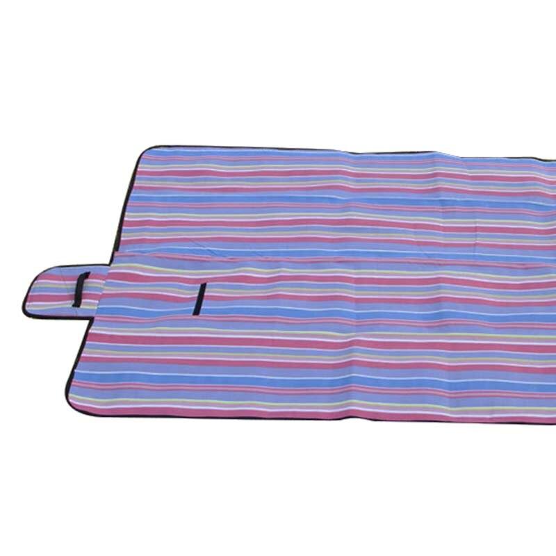 Extra Large Picnic Blanket Rug Mat Waterproof Rug Travel Camping Beach Kids Baby Purple Stripe