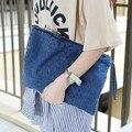 Moda Vintage Denim Jeans Mujeres Bolsos Niñas bolso Bolso de Embragues Del Día Totes bolsa feminina carteira 3824