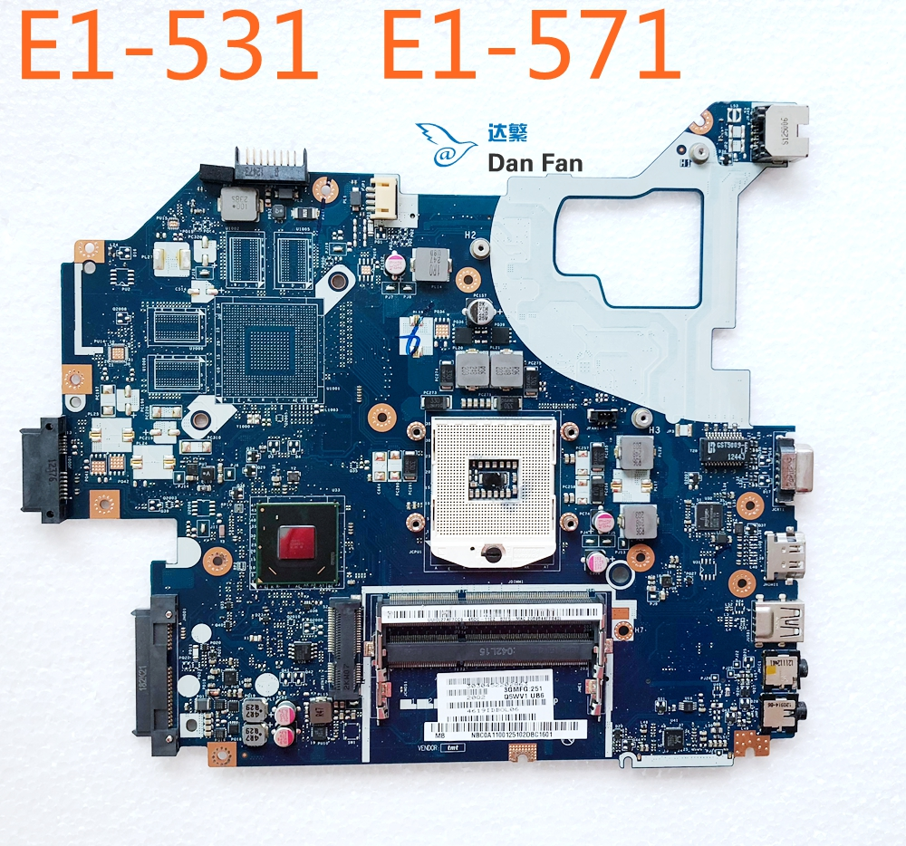 NBC0A11001 For ACER Aspire E1-531 E1-571 P-253 NV56R Laptop Motherboard Q5WV1 <font><b>LA</b></font>-<font><b>7912P</b></font> HM77 Mainboard 100%tested fully work image