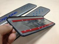 Blue Red Cruze logo Stainless Steel Slim Door Scuff Sill Plates stickers FOR 2015 Chevrolet cruze External padel Sedan hatchback