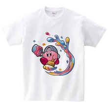 Boys Girls TShirt Kirby Game Pure Cotton Short Sleeve Crew Neck Tshirt Children Clothes 2019 High Quality T-shirt for Baby YUDIE high quality unisex baby boys girls polo shirts children summer short sleeve cotton striped tshirt
