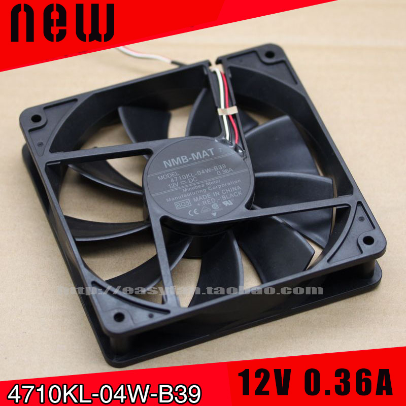 New and original COOLING REVOLUTION 4710KL-04W-B39 12cm 120mm fan 12025 12V 0.36A Projector Waterproof Cooling Fan ralph lauren 385628