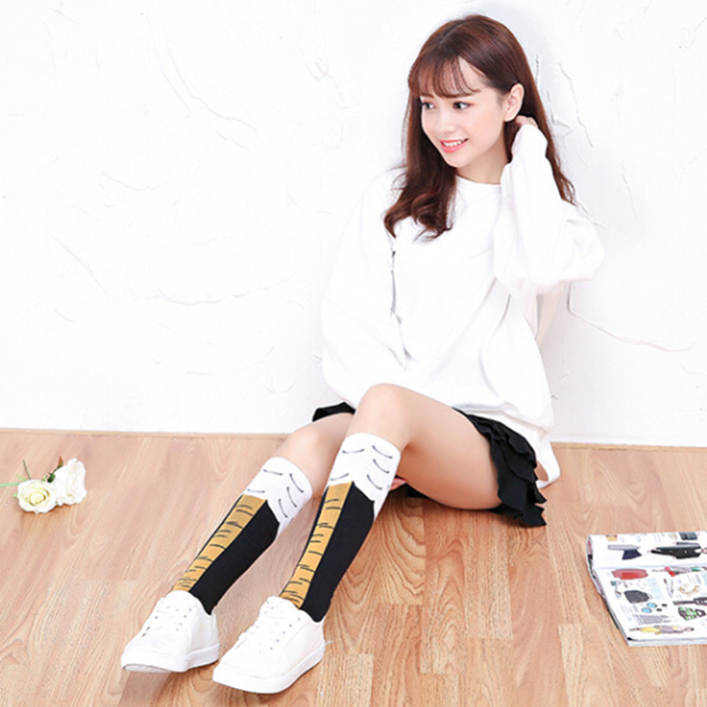 New Arrival Pair Creative Womens Girls Chicken Legs Knee High Fitness Novelty Tube Knee Stockings In Stockings From Womens Clothing Accessories On