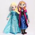 2 unids/set 50 CM Elsa Anna peluches nuevo 50 CM juguete princesa Elsa Anna felpa muñeca Brinquedos Kids muñecas para la muchacha envío gratis