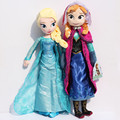 2pcs/set 50CM Elsa Anna Plush Toys New 50cm Princess Toy Elsa plush Anna Plush Doll Brinquedos Kids Dolls for Girl Free Shipping