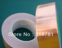 1x 50mm*30 meters *0.06 Single Sided Conductive Adhesive Copper Foil EMI Shielding Tape Sticky Grounding Static Charge Draining
