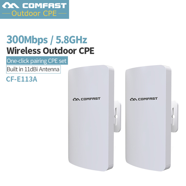 Pairs ~ 3KM Long Range Access Points 5Ghz Outdoor CPE Wireless WIFI Repeater Extender 300Mbps Outdoor AP Bridge Client Router