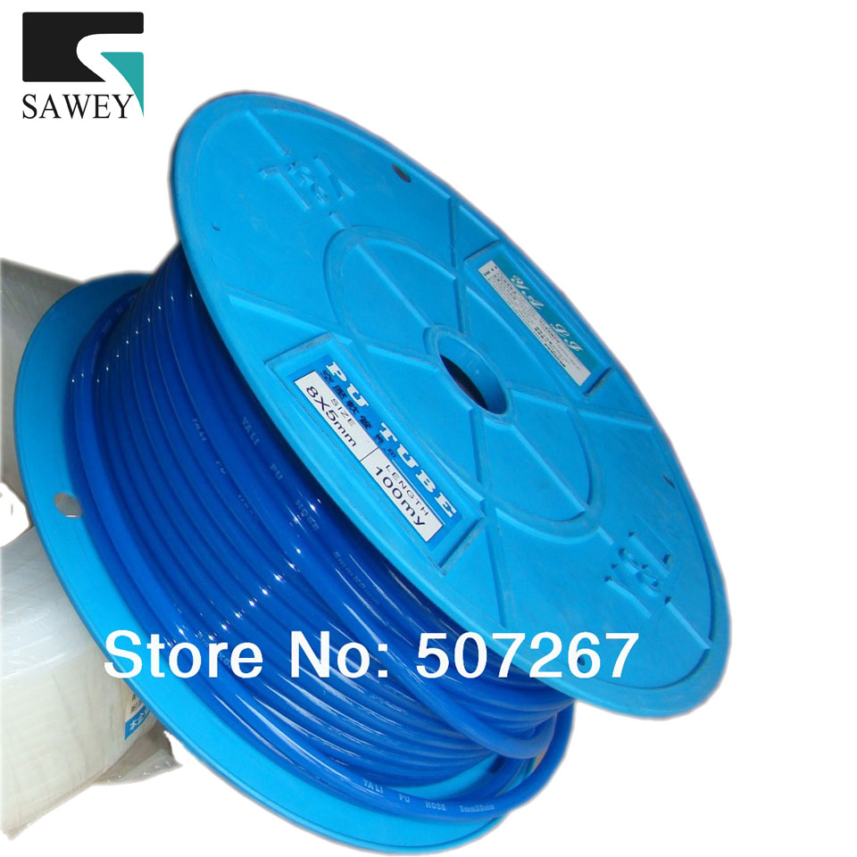 PU gas air hose roll, 5*8mm 85m/roll, soft anti-corruption, oil fluid pipe tube reels, good flexibility dwz 2m 3 6mm smooth petrol fuel tube diesel oil line soft pipeline hose gas pipe