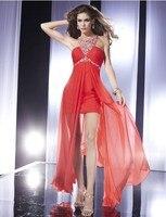 vestido de festa curto dinner 2018 party halter neck short mini chiffon skirt Red sexy lace prom gowns bridesmaid dresses