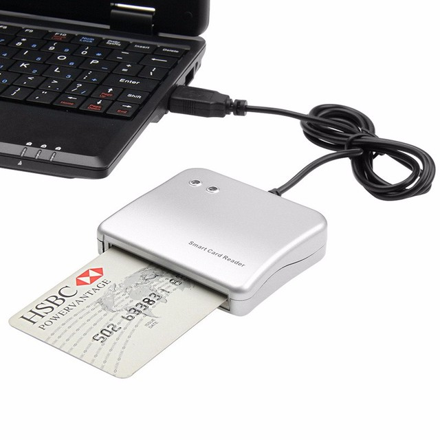 20 pcs Easy Comm USB Smart Card Reader IC/ID card Reader for Windows/ Linux/ MAC High Quality
