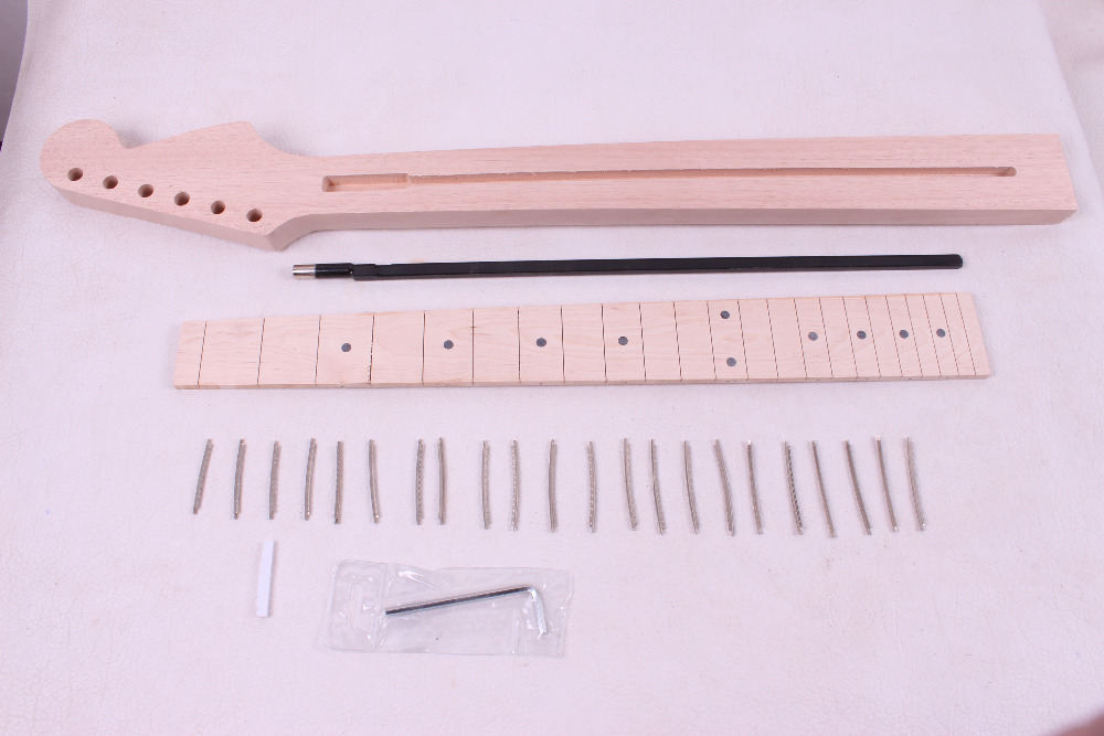 1 pcs electric guitar neck New Unfinished 22 fret 25.5 inch Truss rod   2# new electric guitar neck maple 24 fret 25 5 truss rod unfinished no frets nice