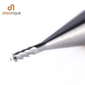 Image 2 - Di Alluminio di cnc di fresatura fresa in metallo duro fresa 3 flauti piazza testa appiattite frese d1 a d12 fresatura di acciaio al tungsteno frese