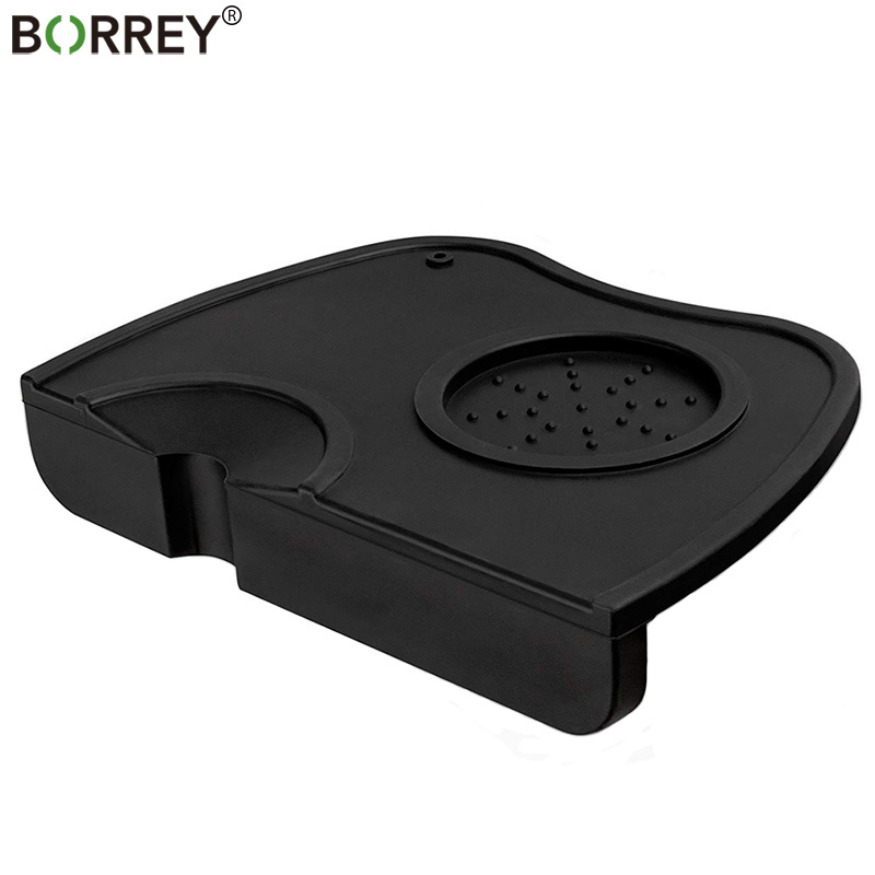 BORREY Double Coffee Tamper Mat Silicone Non-slip Coffee Tamper Holder Rubber Irregular Holder  Espresso Tamper Mat For Baristas