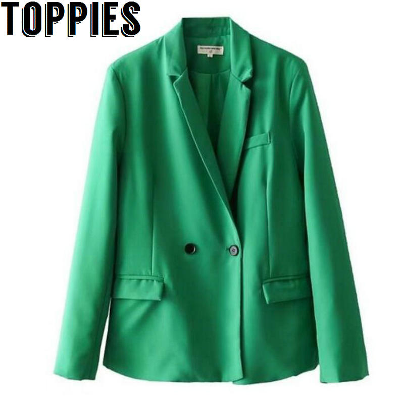 2018 Women Summer Bright Colors Blazer Coat causal Loose Women Jackets blazer feminino casaco feminino Pink Red Green Colors ...