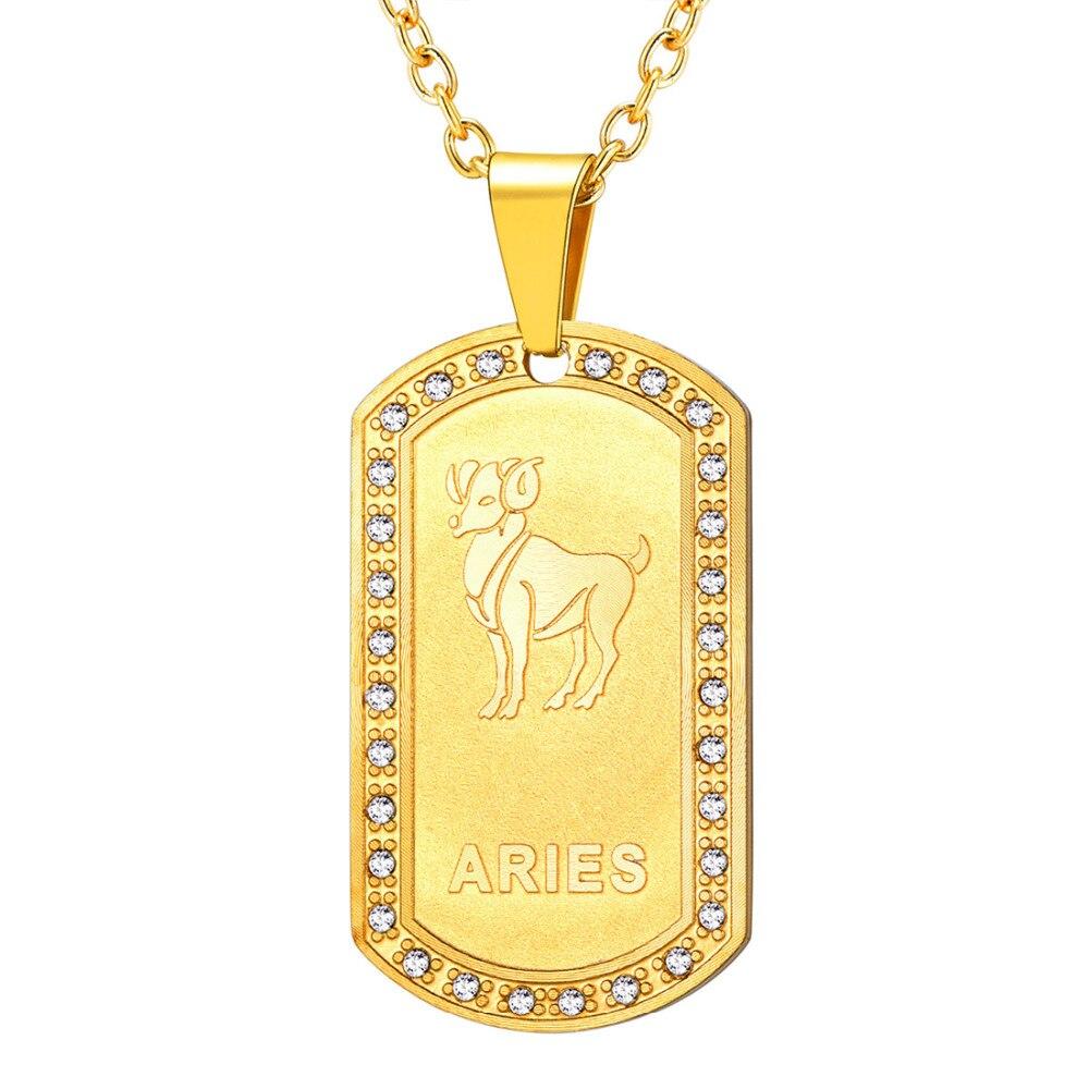 a8bde2f84bf1 Collar de Zodiaco Kpop joyería Unisex de Color dorado signo de estrella de  cumpleaños horóscopo ...
