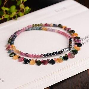 Image 3 - Оптовая продажа, ожерелье jourssnow из натурального турмалина с подвеской в виде капли дождя, ожерелье принцессы для женщин, подарок на день рождения, ювелирные изделия