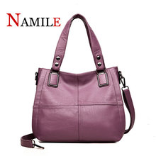 Casual fashion classic solid color atmosphere comfortable soft youth ladies shoulder diagonal large bag