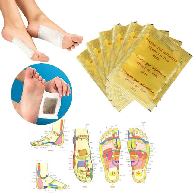 Fat Burning Slimming Feet Stickers 10 Pcs