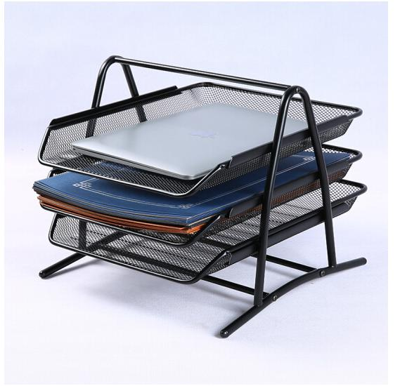 Купить с кэшбэком Deli File box three layers file box data box office desk office supplies metal document trays