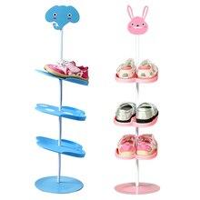 Organizer-Holder Shoes Stand Storage-Capacity Home-Furniture Kid Animal-Pattern Children
