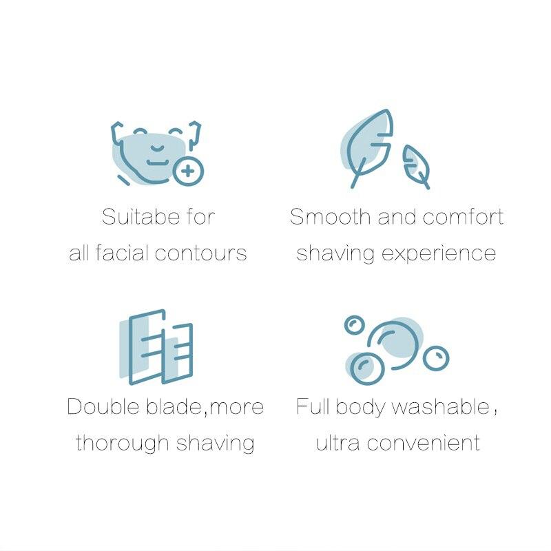 de carregamento rápido homem elétrico inteligente depilação