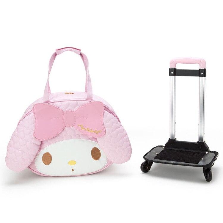 IVYYE 1PCS Melody Fashion PU Anime Luggage Case Travel Bag Reusable Tote Handbags Cartoon Pouch  Bags NEW