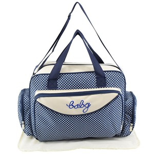Image 2 - MOTOHOOD Baby Diaper Bag Organizer Baby Care Carriage Bag For Stroller Fashion Dot Multifunction Baby Bags For Mom 45*15*30cm