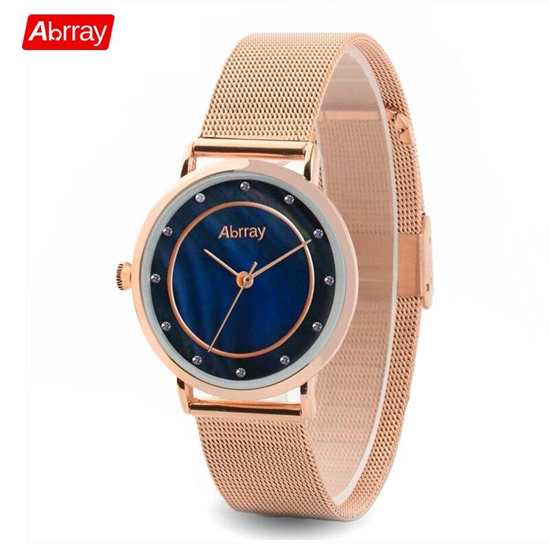 Abrray Women'S Watches Brand Luxury Fashion Ladies Watch Fashion Women Rhinestone Watches 3Bar Waterproof Wrist Watch Female