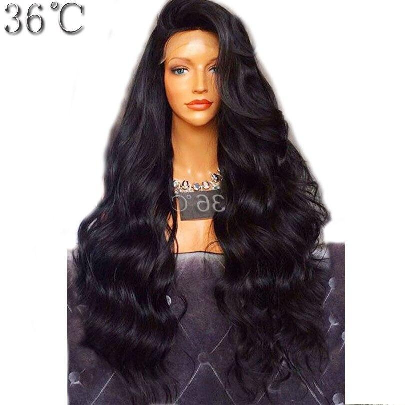 250% плотность Синтетические волосы на кружеве Человеческие волосы парик бразильский девственные волосы Средства ухода за кожей волна боков...