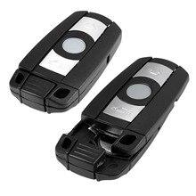 2Pc Smart Key shell Remote Car key case KR55WK49127 123 Fit For BMW 328i 330i 335i 525i 528i 530i 535i 550i Replacement Fob car styling e39 headlight 1996 2003 530i 520i 528i free ship e39 fog chrome led 318i 330i 335i 525i 528i 530i 535i 640i 740i 74