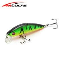 Amlucas 70mm 7.8g Minnow Fishing Lure 3D Eyes Laborious Aritificial Wobblers Fishing Sort out Crankbait Plastic Baits Pesca WE302
