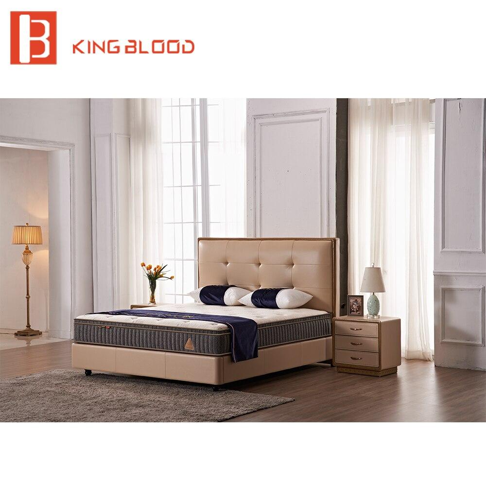 US $708.0  Modernen Europäischen stil top grain leder laminat kinder  schlafzimmer möbel bett-in Betten aus Möbel bei AliExpress