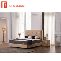 modern European style top grain leather laminate kids bedroom furniture bed
