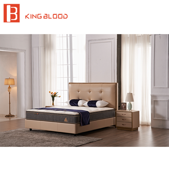 Superbe Modern European Style Top Grain Leather Laminate Kids Bedroom Furniture Bed