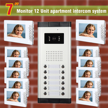 12 units apartment intercom system video doorbell intercom system for apartments video door phone home intercom system
