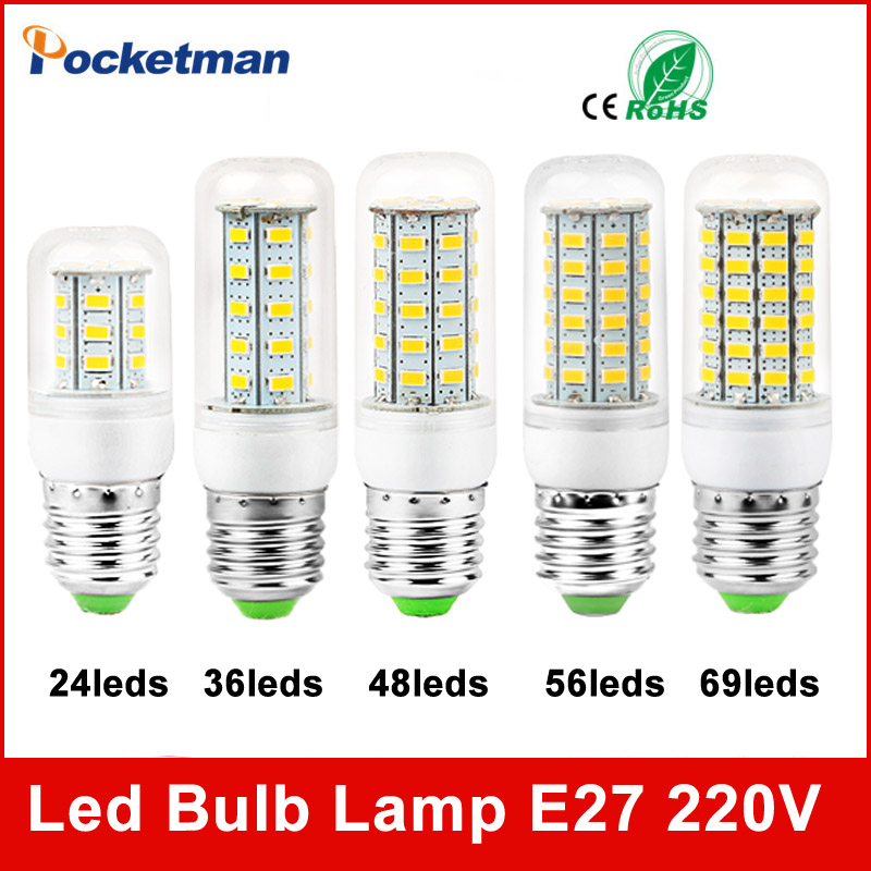 Led Bulbs Light Lamps E27 E14 5730 220V 24 36 48 56 69leds LED Corn Led Bulb Christmas lampada led Chandelier Candle Lighting led bulbs light lamps e27 e14 5730 220v 24 36 48 56 69leds led corn led bulb christmas lampada led chandelier candle lighting