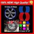 Wheel Rim Decals Stickers For HONDA CBR250R MC41 11-13 CBR 250R 11 13 CBR250 R 11 12 13 2011 2012 2013 4B201 Wheel Rim Sticker