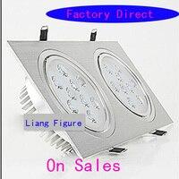 9 Вт * 2 светодиодные венчурные огни AC85 265V двойной головкой энергосберегающие яркий