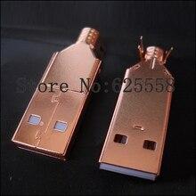 Hi-End Plated USB connector USB A+USB B Type A-B Plug For DIY USB Cable Taiwan Made