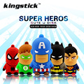 Kingstick pendrive Superhero series USB Flash Drive 4GB 8GB 16GB 32GB 64GB flash memory stick USB2.0 pen drive cute U disk