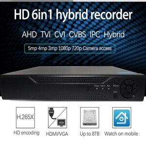 Image 2 - Jvtsmart AHD DVR 4 ערוץ 8 ערוץ H.265 5mp n 4mp n היברידי וידאו מקליט CCTV AHD CVI TVI אנלוגי IP אבטחה 1080 P 4CH 8CH xm