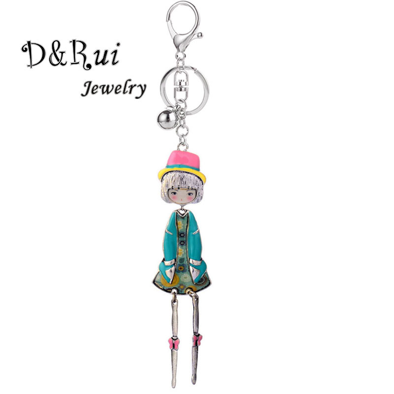 2019 Cute Doll Key Holder Chain Ring Keychains For Women New Fashion Alloy Kpop Accessories Keychain On Keys Trinkets Jewelry
