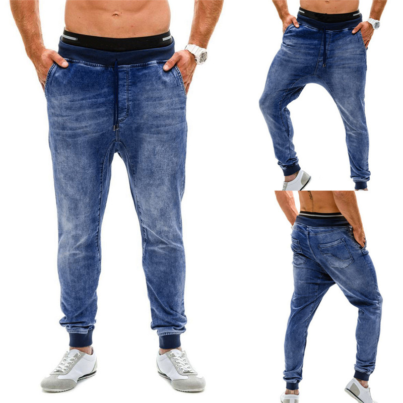 Mens Stretch Denim Pant Distre...