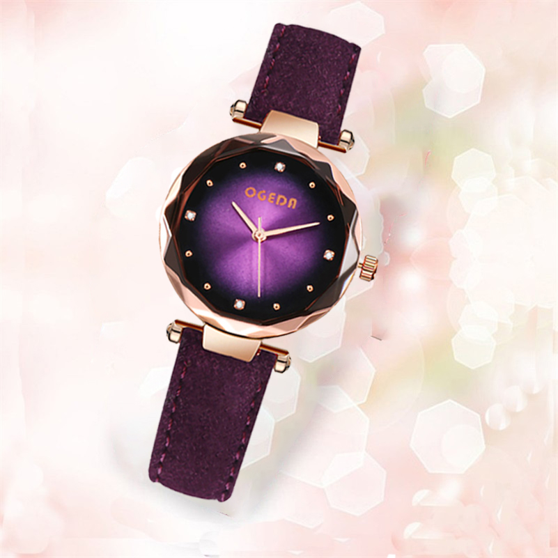 Relogio Feminino Quartz Watch Fashion Watch Women Luxury Brand OGEDA Leather Strap Watches Ladies Wristwatch Relojes Mujer 2019