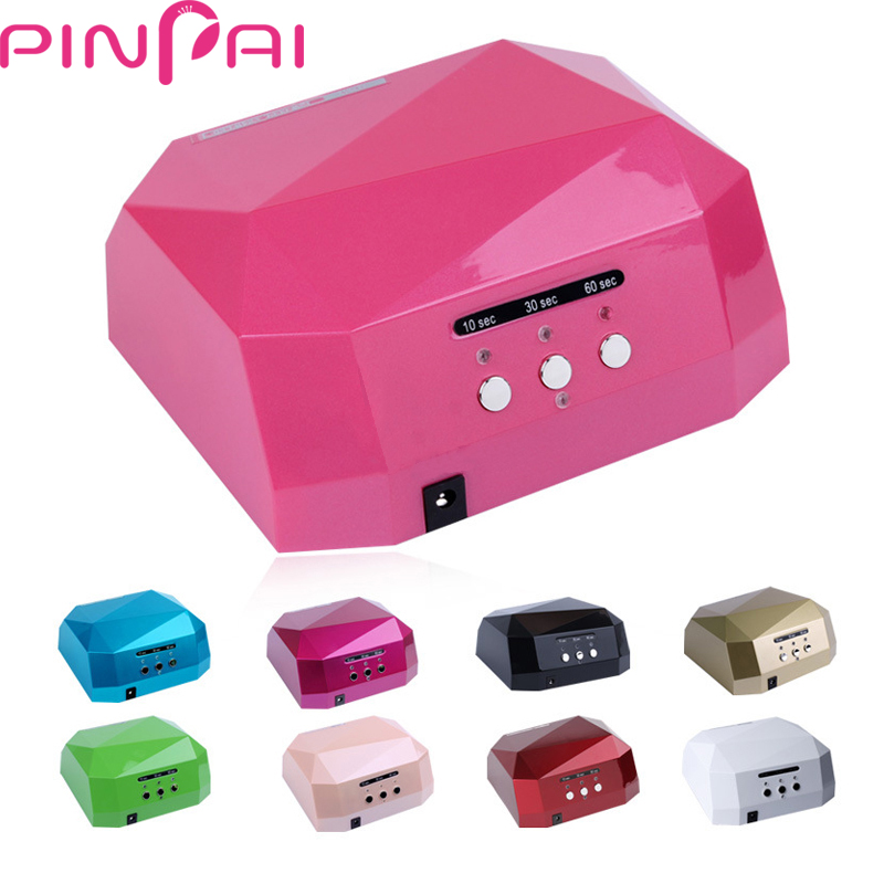 PinPai High Quality Nail Dryer Diamond LED&UV Nail Lamp 36W EU&US Plug Nail Curing Tools for UV Gel Nail Art Polish 8 Colors full uv gel nail art nail polish 36w nail uv lamp dryer tools eu plug set