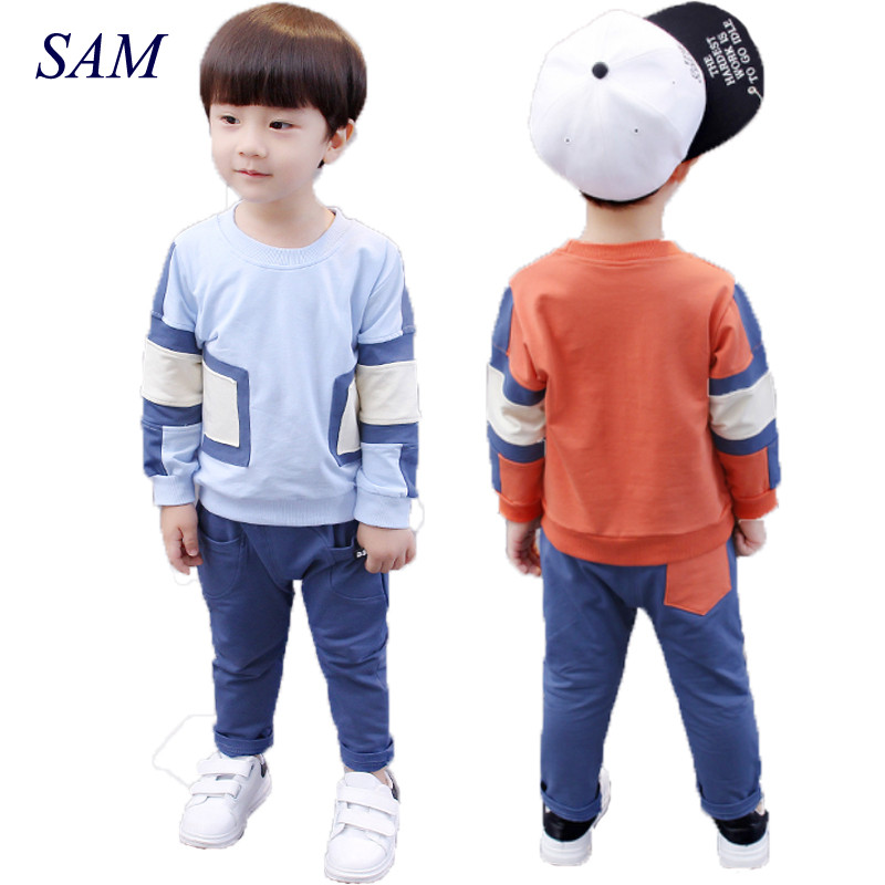 Boys Clothing 2017 Spring Autumn Newest Kids Boys T Shirt + Pants Set Children`s Clothing Suits Baby Cotton High Quality