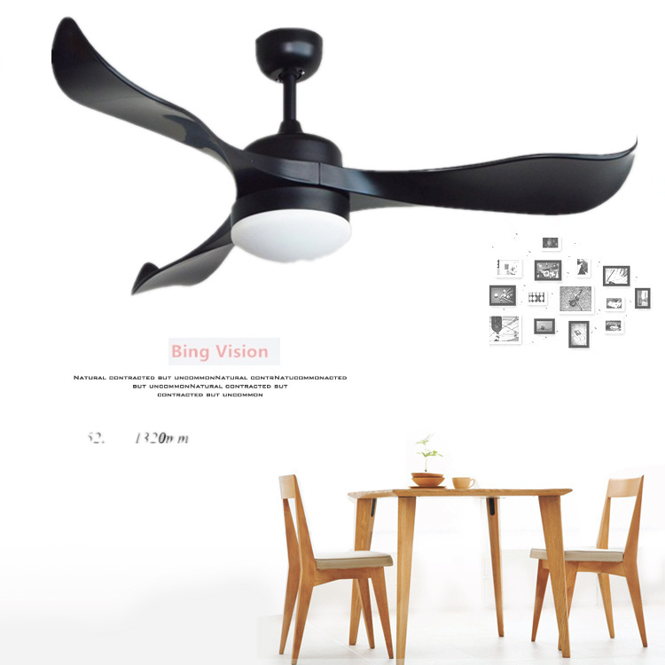 Nordic creative 52 inch dc110v 220v led ceiling fans with - Bedroom ceiling fans with remote control ...