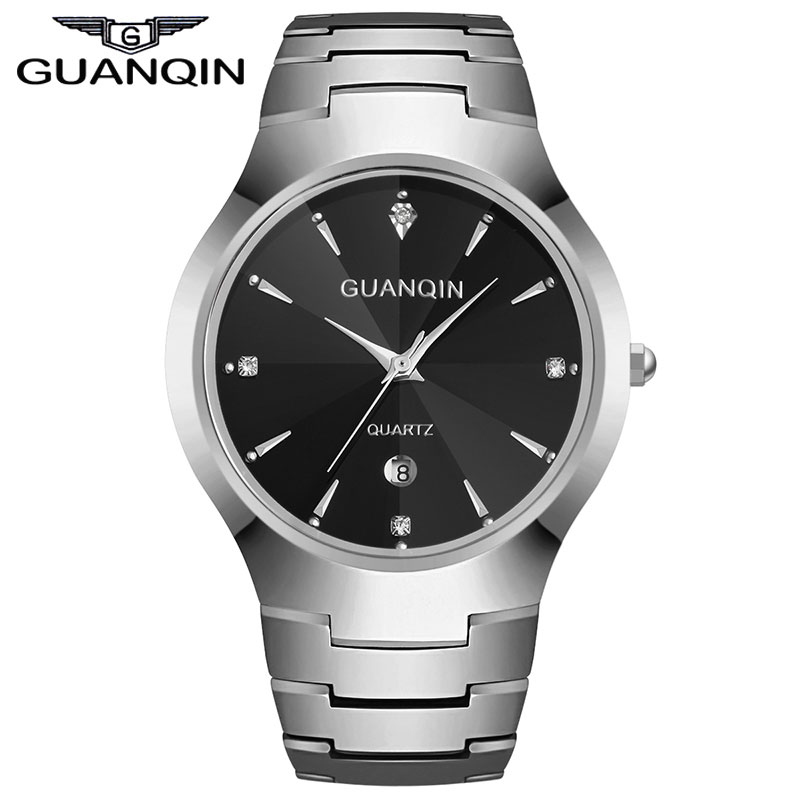 Original GUANQIN Fashion Watch Women Brand Luxury Women Watches Tungsten Steel Waterproof Quartz Watch relogio feminino Ladies guanqin fashion women watch gold silver quartz watches waterproof tungsten steel watch women business bracelet gq30018 b